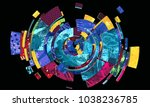 abstract colorful composition... | Shutterstock . vector #1038236785