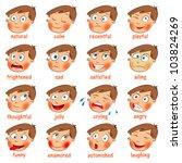 Emotions. Cartoon Facial...