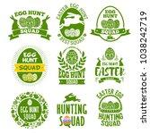 easter emblems set for egg...   Shutterstock .eps vector #1038242719