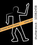 dead body outline with crime... | Shutterstock . vector #10382458