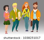 business team  office workers... | Shutterstock .eps vector #1038251017