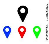 location mark icon | Shutterstock .eps vector #1038253039
