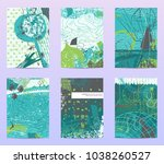 spring collection of abstract... | Shutterstock .eps vector #1038260527
