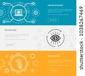 online business 3 horizontal... | Shutterstock .eps vector #1038267469