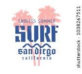 surfing artwork. surf... | Shutterstock .eps vector #1038267511