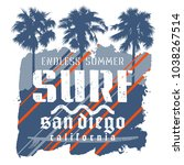 surfing artwork. surf... | Shutterstock .eps vector #1038267514