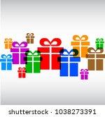 gift set   stock vector   Shutterstock .eps vector #1038273391