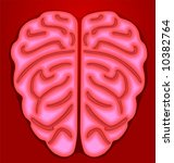 human brain in red background  | Shutterstock .eps vector #10382764