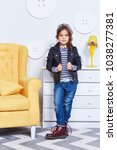 fashion style clothes for child ...   Shutterstock . vector #1038277381
