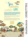 vector sea underwater life... | Shutterstock .eps vector #1038277501