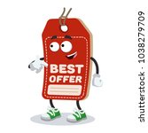 cartoon price tag mascot... | Shutterstock .eps vector #1038279709