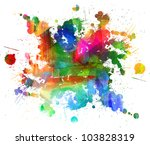 abstract oil painting. blot.... | Shutterstock . vector #103828319