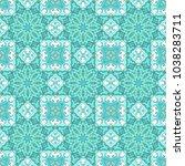 turquoise seamless ornamental... | Shutterstock .eps vector #1038283711