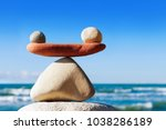 concept of harmony and balance. ... | Shutterstock . vector #1038286189