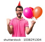 lucky handsome young man... | Shutterstock . vector #1038291304