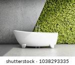 bathroom with vertical garden.... | Shutterstock . vector #1038293335