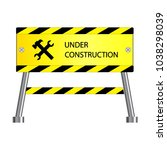 under construction icon ... | Shutterstock .eps vector #1038298039