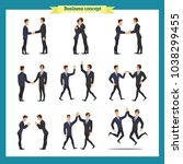 ready to use character set.... | Shutterstock .eps vector #1038299455