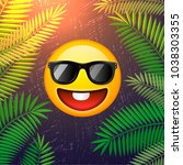 hello summer poster. summer... | Shutterstock .eps vector #1038303355