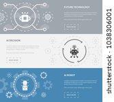 artificial intelligence 3... | Shutterstock .eps vector #1038306001