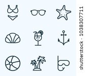 season icons line style set... | Shutterstock .eps vector #1038307711