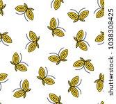 yellow and black butterflies... | Shutterstock .eps vector #1038308425