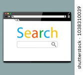 simple browser window on gray... | Shutterstock .eps vector #1038310039