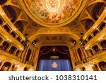 Small photo of BUDAPEST, HUNGARY- SEPTEMBER 11 2016: Interior of the Hungarian Royal State Opera House, considered one of the architect's masterpieces and has the third best acoustics in Europe.