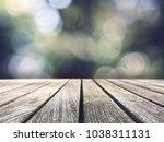 rustic wood picnic table top...   Shutterstock . vector #1038311131
