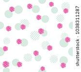 glitter confetti polka dot... | Shutterstock .eps vector #1038311287
