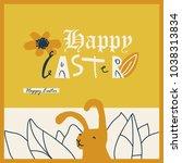 positive bright easter card. | Shutterstock .eps vector #1038313834