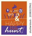 concept easter card with...   Shutterstock .eps vector #1038315961