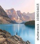 moraine lake  banff national...   Shutterstock . vector #1038316615