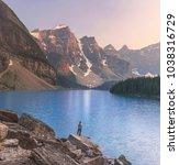moraine lake  banff national... | Shutterstock . vector #1038316729