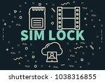 conceptual business... | Shutterstock . vector #1038316855