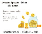 vector image of gold coins in a ...   Shutterstock .eps vector #1038317401