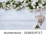 white wooden background with... | Shutterstock . vector #1038319717