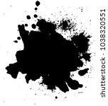 abstract black ink blot... | Shutterstock .eps vector #1038320551