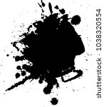 abstract black ink blot... | Shutterstock .eps vector #1038320554