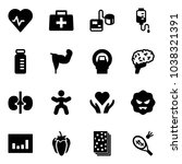 solid vector icon set   heart... | Shutterstock .eps vector #1038321391