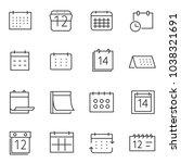 calendar icon set  thin line...   Shutterstock .eps vector #1038321691