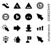 solid vector icon set  ... | Shutterstock .eps vector #1038323449