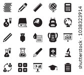 solid black vector icon set  ... | Shutterstock .eps vector #1038323914