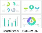 collection of round pie charts  ... | Shutterstock .eps vector #1038325807