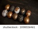 background with golden... | Shutterstock . vector #1038326461