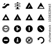 solid vector icon set  ... | Shutterstock .eps vector #1038328465