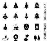 solid vector icon set  ... | Shutterstock .eps vector #1038329515