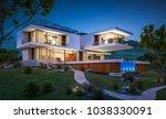 3d rendering of modern cozy... | Shutterstock . vector #1038330091