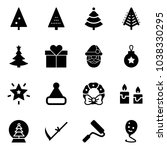 solid vector icon set  ... | Shutterstock .eps vector #1038330295