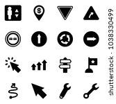 solid vector icon set  ... | Shutterstock .eps vector #1038330499